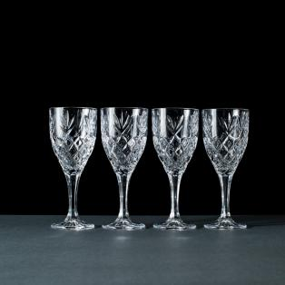 Galway Crystal Renmore Wine Goblets Set of 4
