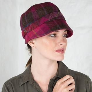 Pink Wool Flapper Cap