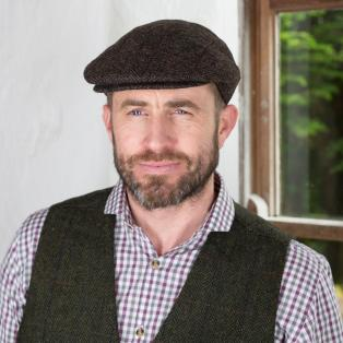 Brown Irish Wool Trinity Flat Cap