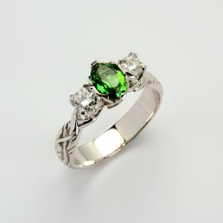 Ladies 0.50 Diamond Tourmaline Livia Collection Ring