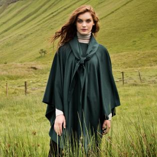 Luxurious Wool & Cashmere Irish Cape