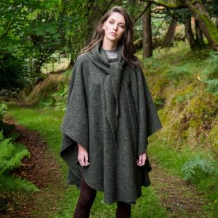 Hourihan Pure New Wool Donegal Tweed Cape
