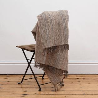 Mc Nutt Oatmeal Tweed Rainbow Blanket