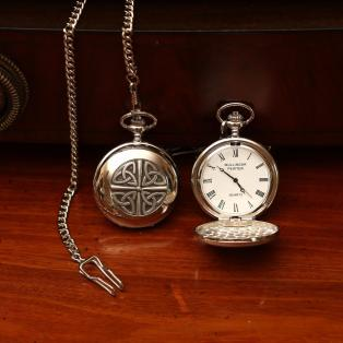 Mullingar Pewter Trinity Knot Pocket Watch