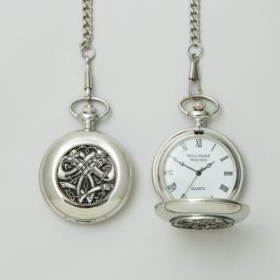 Personalized Mullingar Pewter Kells Pocket Watch