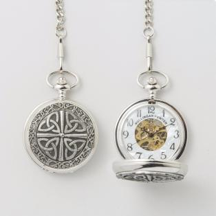 Personalized Pewter Trinity Knot Pocket Watch