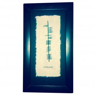 Ogham Ancient Irish Print - Ireland
