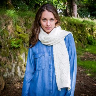 Ladies' Cashmere Blend Aran Scarf