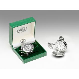Personalized Mullingar Pewter Claddagh Pocket Watch