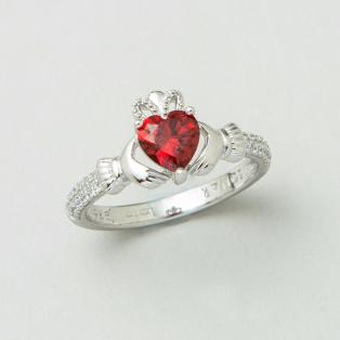 The Claddagh Birthstone Ring January