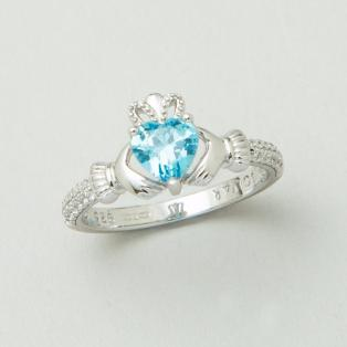 The Claddagh Birthstone Ring March