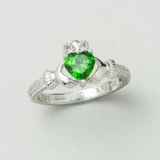 The Claddagh Birthstone Ring May