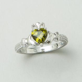 The Claddagh Birthstone Ring August
