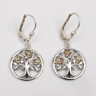 Tree of Life Diamond Earrings