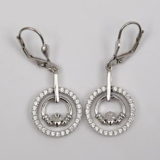 Claddagh Double Ring Earrings