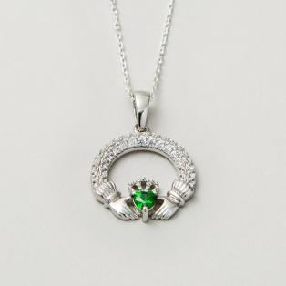 The Claddagh Birthstone Pendant