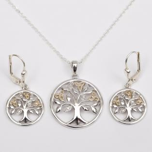 Tree of Life Diamond Jewelry Set