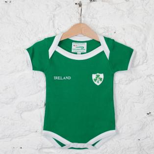Ireland Green Shamrock Baby Polo Vest