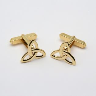 10k Trinity Knot Cufflinks