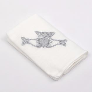 Irish Linen Claddagh Handkerchief