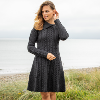 Cape Clear Charcoal Aran Dress