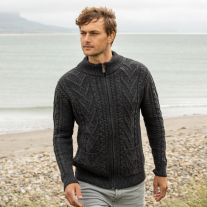 Charcoal Lough Dan Aran Cardigan