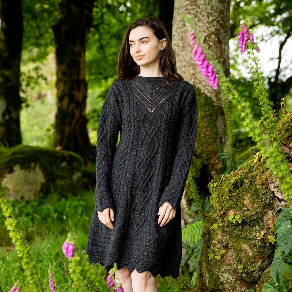Black Aran Dress