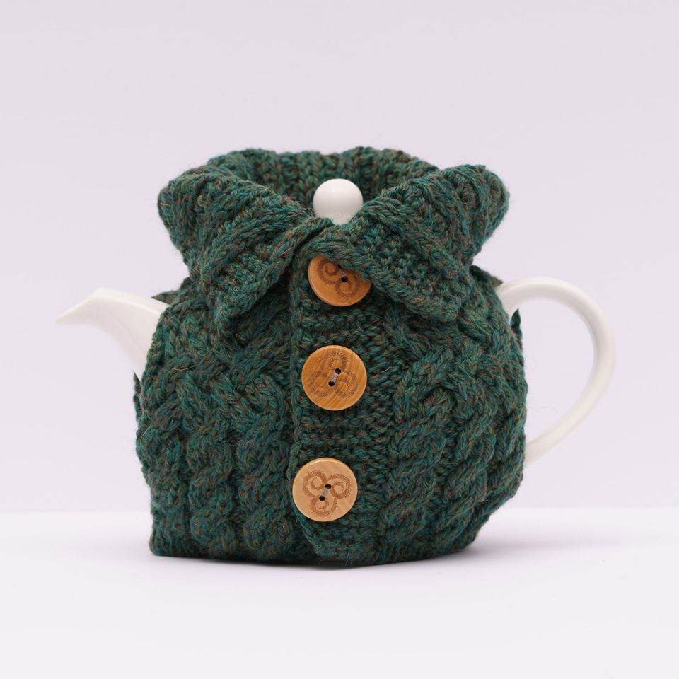 Irish Homeware Aran Cardigan Tea Cozy