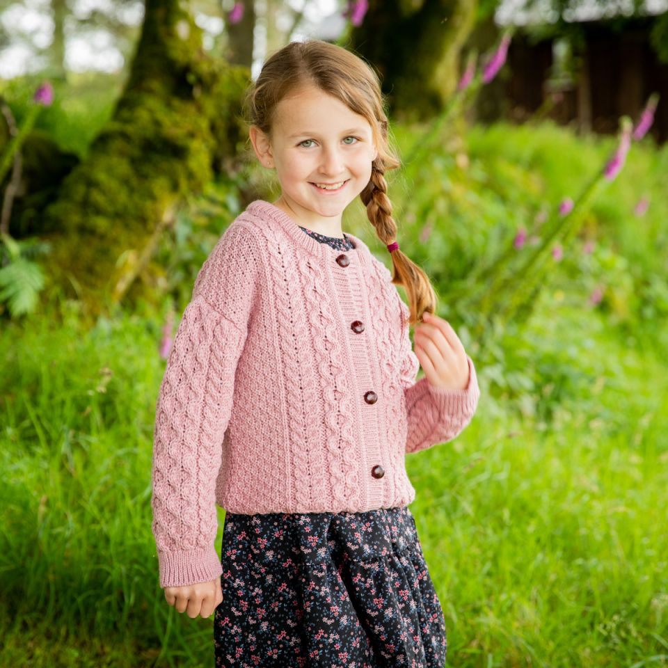 Kids Aran cardigan for girls