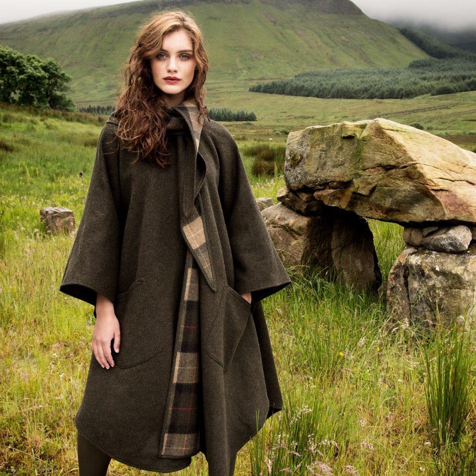 Labor Day Sale Irish Wool Walking Cape