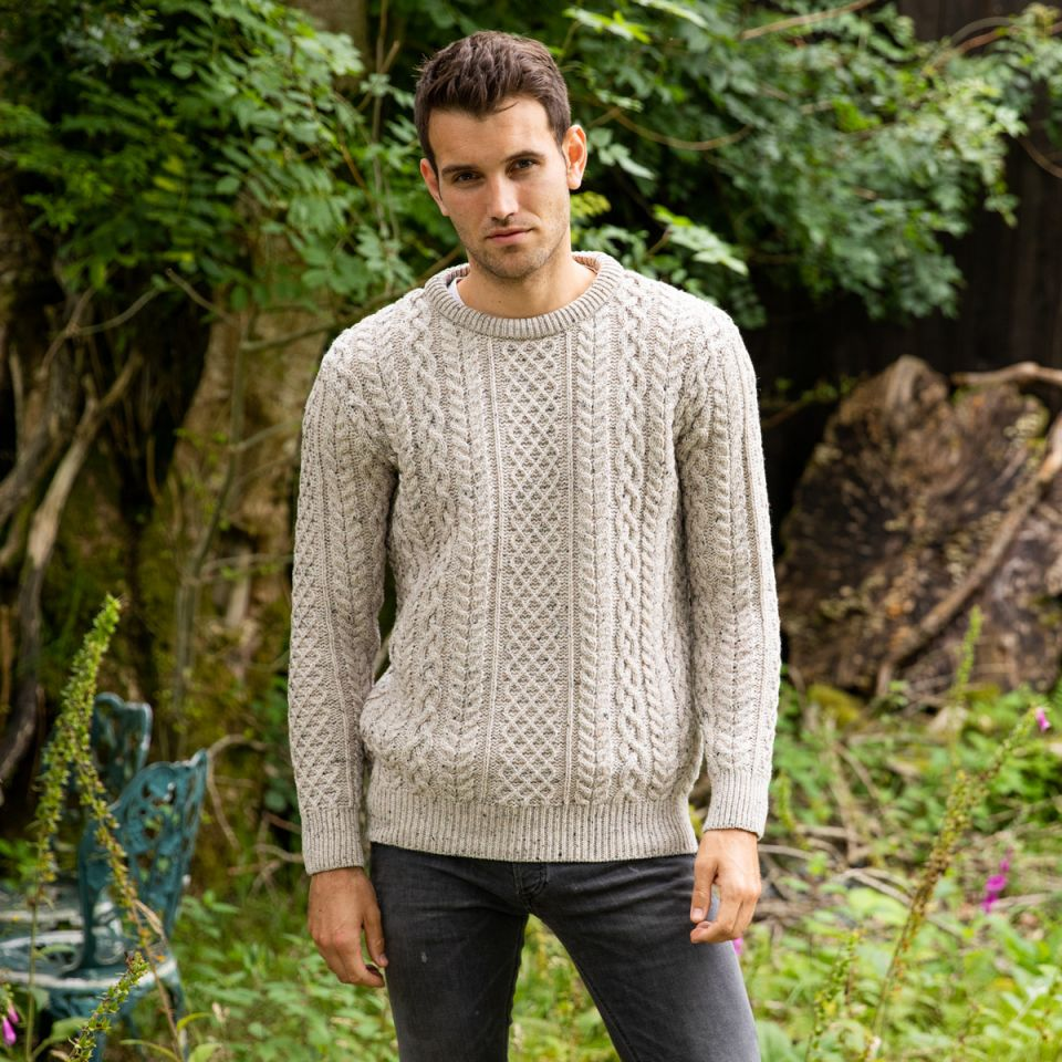 winter collection 2020 O'Connell Aran Sweater
