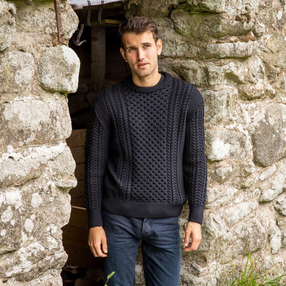 Aran Woolen Mills Aran Sweater for him