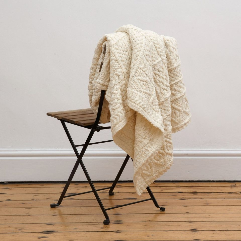 Irish blankets Aran throw