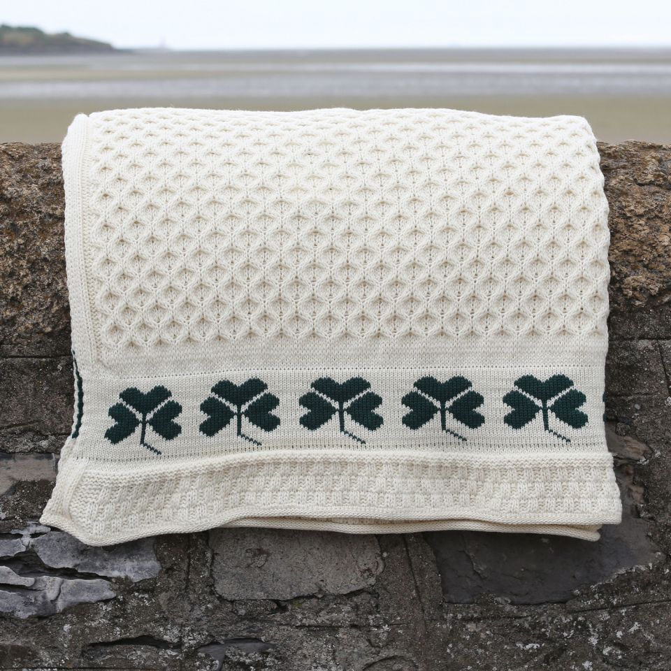 Irish Blankets Shamrock Throw