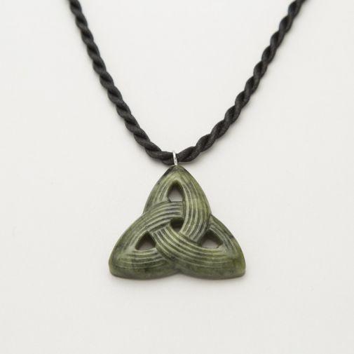 Connemara marble Celtic Triskele energy pendant
