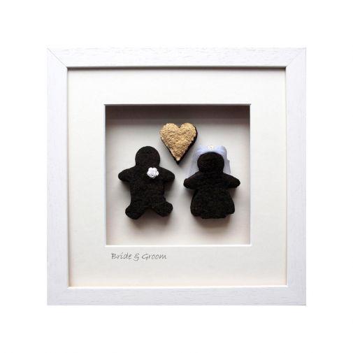 Buy Bog Buddies Gold Heart Bride Groom Art The Irish Store