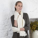 Hand Knit Aran Gloves