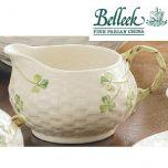 Belleek Irish Pottery Shamrock Cream Jug