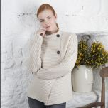 Cashmere Blend Ribbed Cardigan