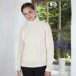 Celtic Aran Turtleneck Sweater