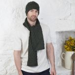 Honeycomb Aran Irish Hat & Scarf Set