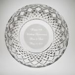 """Personalized Galway Crystal 8"""" Plate"""