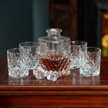 Galway Crystal Renmore Decanter& Glasses Set