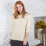 Ladies Lambay Aran Sweater