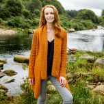 Ladies Glenross Waterfall Aran Cardigan