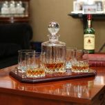 Galway Crystal Longford Decanter & 4 Glasses Set