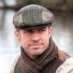 Mens Irish Tweed Patchwork Cap