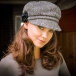 Ladies Irish Wool Newsboy Cap