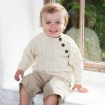 3 Button Aran Sweater