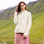 Ladies 3  Button Aran Cardigan